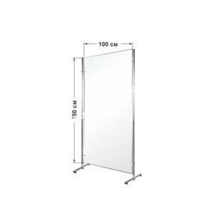 Перегородка для офиса двухсторонняя напольная магнитная 1 секционная 150 х 100 см