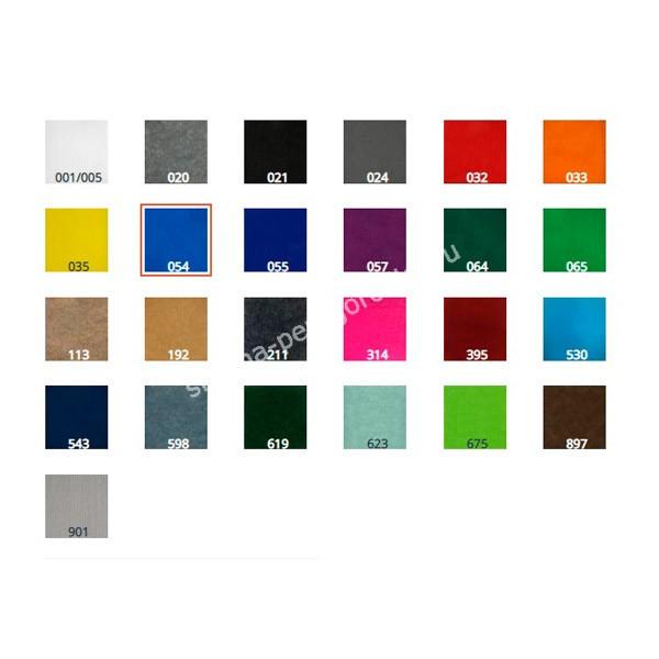 Ширма перегородка односторонняя напольная фетровая синяя 2-х секционная 120 х 100 см