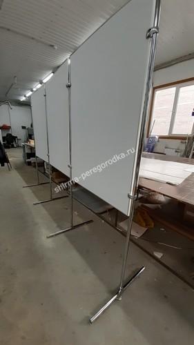 Декоративная перегородка двухсторонняя напольная магнитная 3-х секционная 120 х 100 см